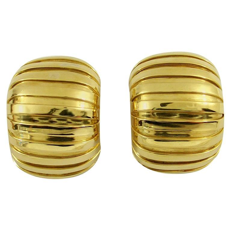 Weingrill Jumbo Gold Tubogas Earrings