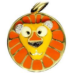 Aaron Basha Diamond Gold Leo Zodiac Lion Charm