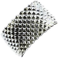 New Stephen Webster Super Stud Silver Large Hinged Cuff Bracelet