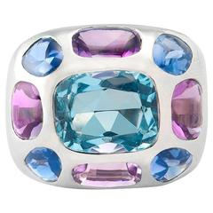 Chanel Aquamarine Gemset Gold Ring