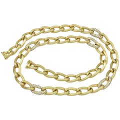 Fabulous Henry Dunay Diamond Gold Chain