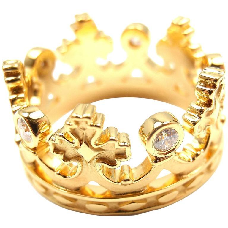 Carrera Y Carrera Mi Princes Russian Crown Diamond Gold Ring For ...