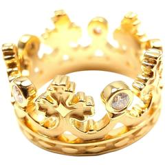 Carrera Y Carrera Mi Princes Spanish Crown Gold Band Ring