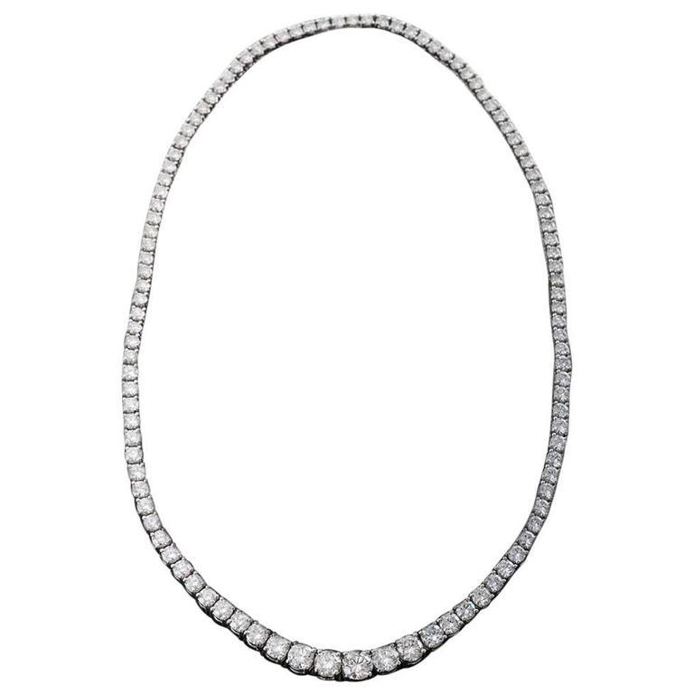 Platinum Graduated Diamond Necklace
