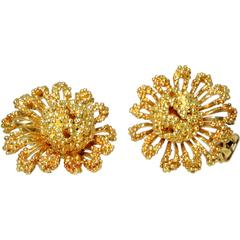 1960s Tiffany & Co. Gold Flower Earrings