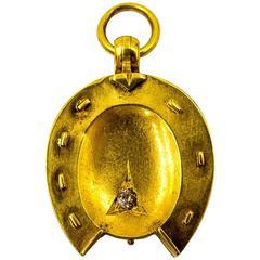 Antique Diamond Gold Horseshoe Locket