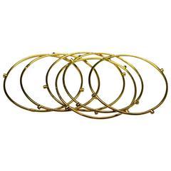 "Yossi Harari Six Diamond Gold ""Jane"" Bracelets"