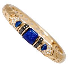 Marina B Blue Enamel Diamond Choker
