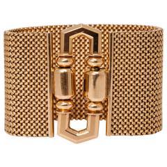 1940s Retro Italian Gold Buckle Bracelet