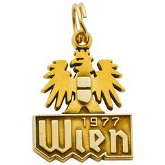 Gold Austrian Wien Charm
