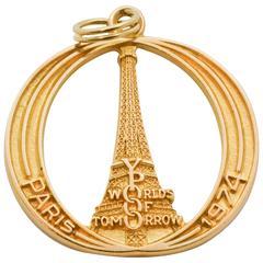 Gold Paris Charm