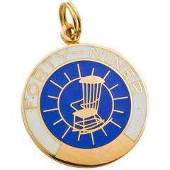 Gold Forty-Niner Charm