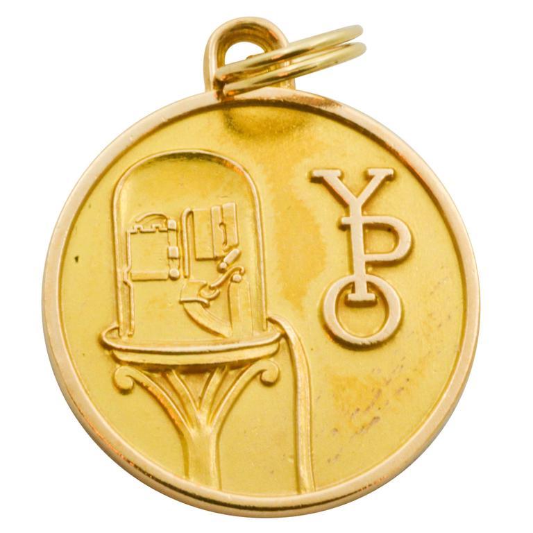 14 Karat Gold Wall Street Charm