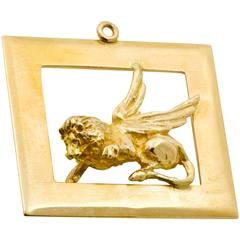 Gryphon Gold Charm