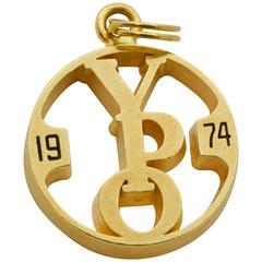 1974 14 Karat Yellow Gold Charm
