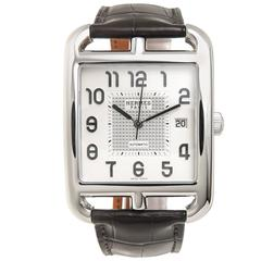 Hermes Stainless Steel Cape Cod Jumbo Automatic Wristwatch