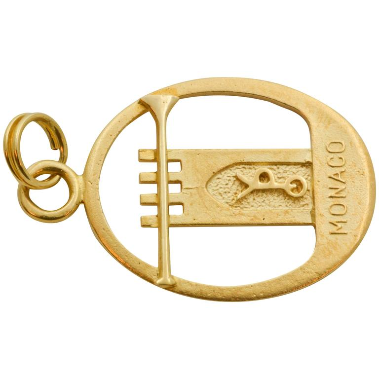 Monaco 14 Karat Yellow Gold Charm