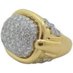 David Webb Pave Diamond Gold Ring