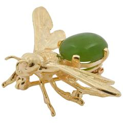 Jade Gold Jade Bee Brooch