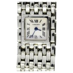 Cartier Lady's Stainless Steel Panthere Ruban Mother of Pearl Dial Wristwatch