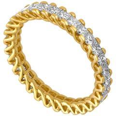 1.85 Carats Princess Cut Diamond Eternity Band Ring