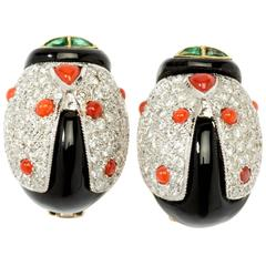Attractive Ladybug Stud Earrings