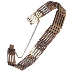 1910s Art Nouveau Gold Bracelet Vienna Austria