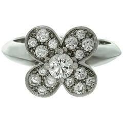 Van Cleef & Arpels Trefle Diamond Gold Ring