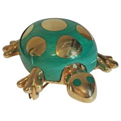 Tiffany & Co. Enamel Gold Turtle Pin Brooch