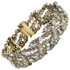 Antique Diamond Silver Gold Bracelet