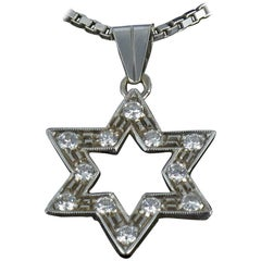 Diamond Gold Star Pendant with Chain