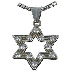 Diamond Gold Star Pendant with Chain