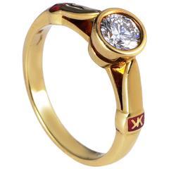 Korloff .60 Carat Diamond Gold Solitaire Engagement Ring