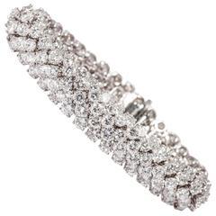 David Webb 33.80 Carats Diamonds Gold Bracelet