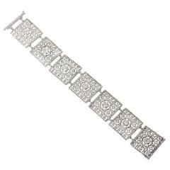 Buccellati Diamond Gold Link Bracelet