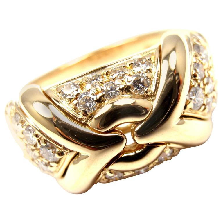 Bulgari Diamond Gold Band Ring
