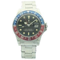 Rolex Stainless Steel Gilt Dial GMT-Master Wristwatch Ref 1675