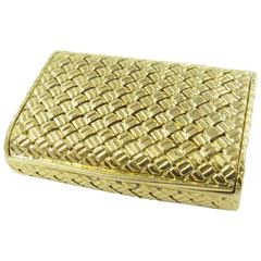 Van Cleef & Arpels Woven Gold Pill Box