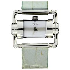 Corum Lady's Stainless Steel Horizontal Mother of Pearl Quartz Wristwatch
