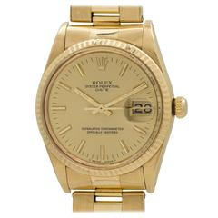 Rolex Yellow Gold Oyster Perpetual Date Wristwatch Ref 1500 circa 1985