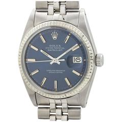 Rolex Stainless Steel Datejust Wristwatch Ref 1601 circa 1972