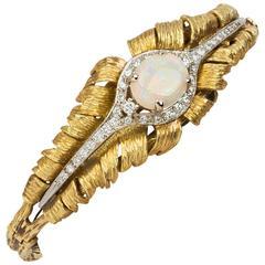 Opal Diamond Gold Bracelet