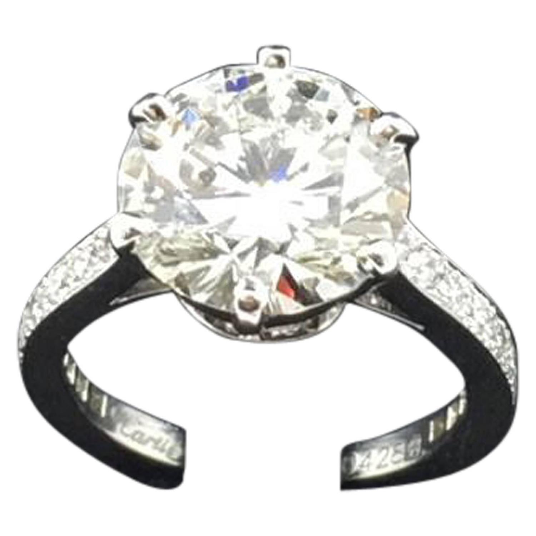 Cartier 5 30 Carat GIA Cert Diamond Engagement Ring at 1stdibs