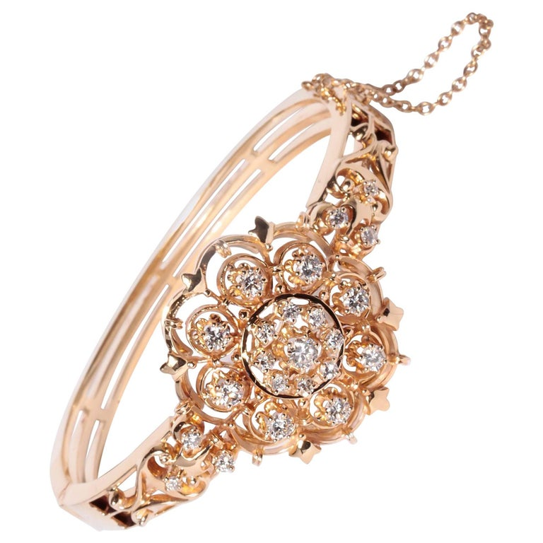 K. Goldschmidt 14 Karat Gold and Diamond Bracelet