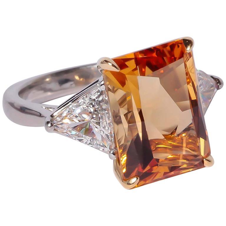 Richard Krementz Precious Topaz Diamond Platinum Ring