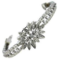 1960s Diamond Gold Link Bracelet