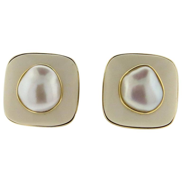 Trianon Pearl Gold Earrings