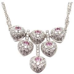 Pasquale Bruni Vanita Pink Sapphire Diamond Gold Necklace