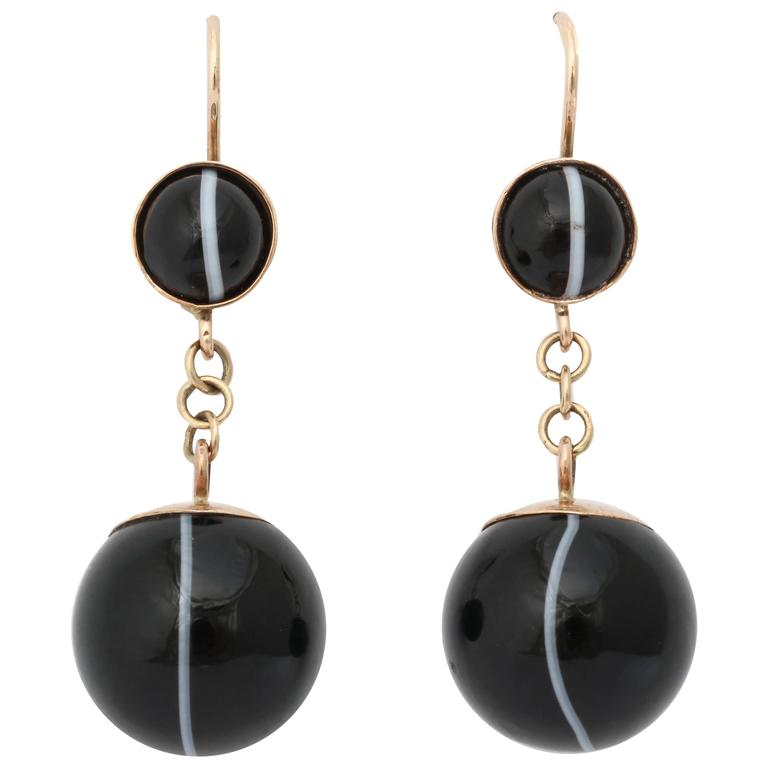 banded agate earrings for sale at 1stdibs