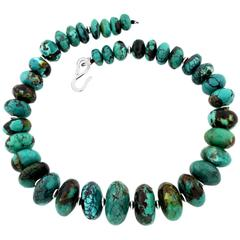 Splendid Graduated Natural Turquoise Necklace